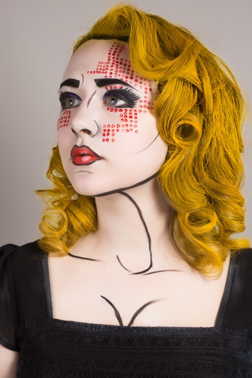 Maquillage et Coiffure Eleve Fleurimon - Tiphaine Pop Art 2013